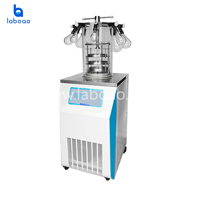 Electric heating manifold top press lab freeze dryer