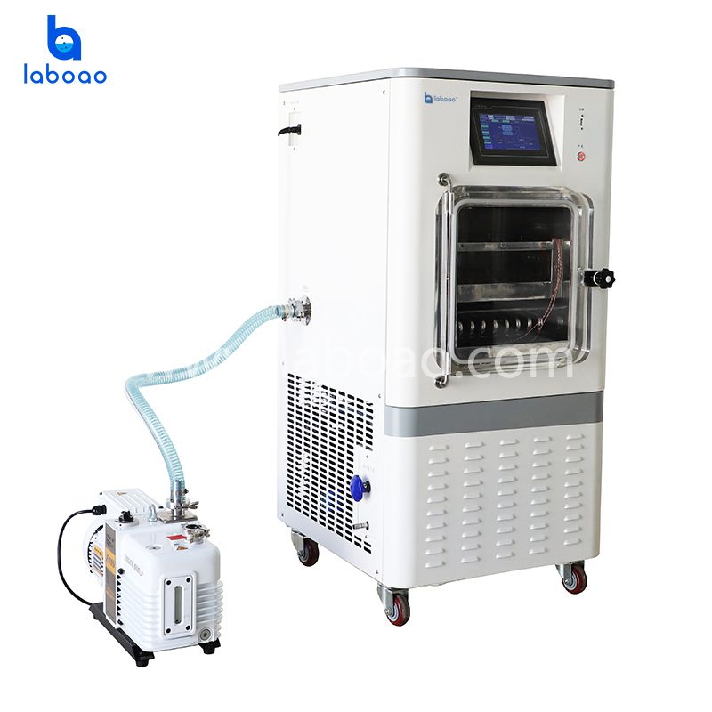 0.1㎡ electric heating top press freeze dryer