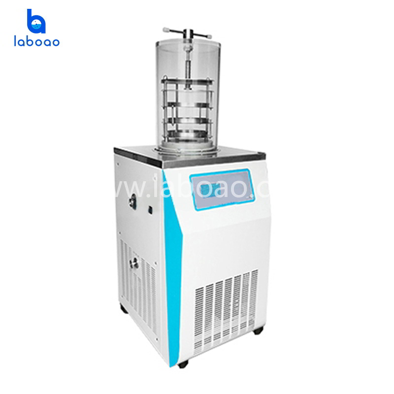 Electric heating top press lab freeze dryer