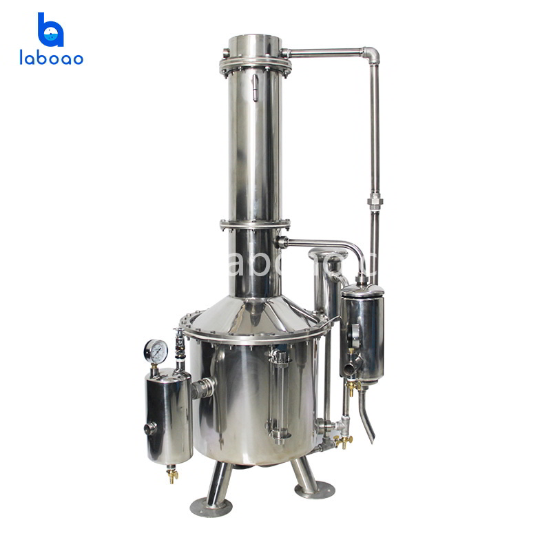 50L-600L large double water distiller with steam heating