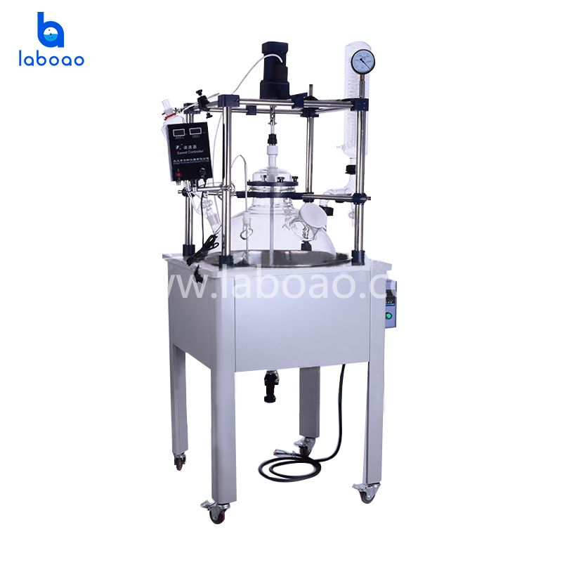 100L single layer glass reactor