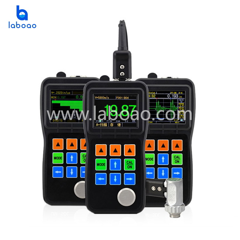 Ultrasonic thickness gauge with real time color A/B scanning